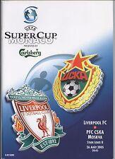 Orig.PRG   UEFA Super Cup 2005   Finale   FC LIVERPOOL - ZSKA MOSKAU  !!  TOP