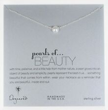 Dogeared Sterling Silver Pearls Of Beauty Boxed Necklace