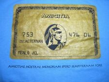 T-Shirt, AMICITIA Mens S Menlo JCL Latin Credit Card Look FRIENDSHIP Blue Cotton