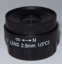 LOT 5  2.5MM 2.5 MM CCTV Camera Lens CS  Fixed-Iris New