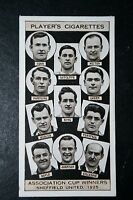 Sheffield United  1925   FA Cup Winning Team  Original 1930's Card  VGC