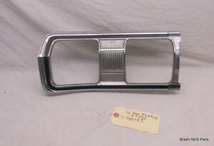 Genuine MoPar 1975-1976 Dodge Dart Fastback CHROME Tail Lamp Bezel  Super clean