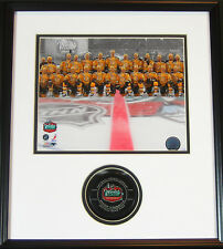 2010 Boston Winter Classic Framed Bruins Team Photo & Game Puck -Exclusive Combo