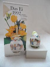 """Hutschenreuther  """" DAS EI 1992 """"  Porzellan Ei - Sammelerstück  !!!"""
