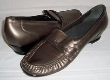 SAS Tripad Comfort Pewter Gray Leather Loafers Moccasins Slip On Shoes 10 N 10N