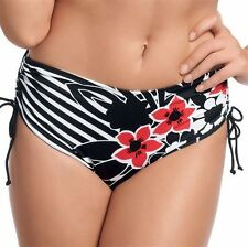 FANTASIE Genova Regolabile Gamba Bikini Corto ~ Nero ~ Taglia S ~ BNWT * RRP £ 36.00 *