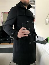 GUCCI Tom Ford period wool belt trench coat x black men