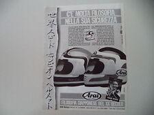 advertising Pubblicità 1987 CASCO HELMETS ARAI e FREDDIE SPENCER