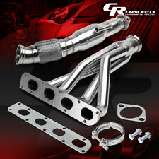 FOR COBALT/ION 2.0 SUPERCHARGED STAINLESS EXHAUST HEADER+FLEX DOWNPIPE+O2 BUNG