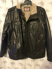 LEVI'S MEN'S BLACK FAUX LEATHER  NEW WITHOUT TAGS XXL