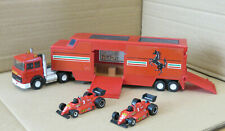 Matchbox Superkings Ferrari Transporter with 2 F1 Cars