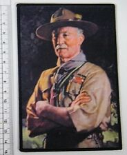 Large BP LORD BADEN-POWELL BADGE / CLOTH POSTCARD from 23rd World Scout Jamboree