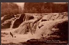 [-385]  Salmon Leaping over Falls at Ketchikan Alaska - Early 1900s