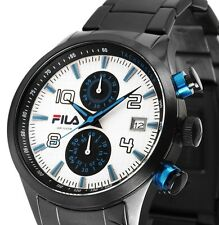 Herren Armbanduhr Chronograph Weiss/Blau/Schwarz Edelstahlarmband FILA UVP 269,-