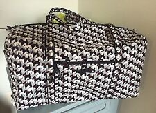 New Vera Bradley Large Duffel Bag SCOTTIE DOGS Travel Luggage Black