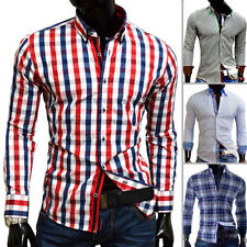 Unbranded Cotton Blend Checked Formal Shirts for Men