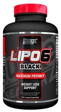 Nutrex Lipo 6 Negro 120 Líquido Cápsulas - Quemador De Grasa - Potencia Máxima
