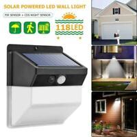 1100LM 118 COB LED Solar Wall Light Outdoor Garden Security Lamp Motion Sensor