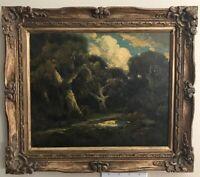 Manuel Valencia (1856-1935) California Landscape Original Oil /Canvas Painting