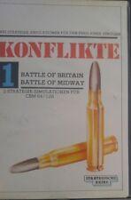 Konflikte 1 Battle of Midway & Britain  C 64 (Box, Manual, Kassette) 100% ok