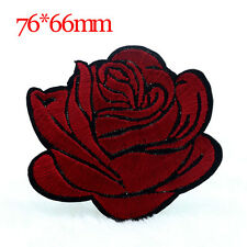 Red Rose Flower Embroidery DIY 2x Applique Cloth Sewing /& Iron on Patch Badge U8