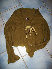 Gorgeous forest green tie Front  Cardigan - size 10