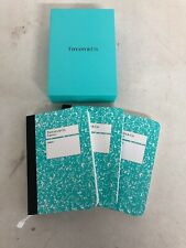 Tiffany & Co. Mini Notebook Set Of 3 Journal Composition New In Box