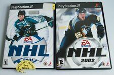 NHL 2001 & 2002 PlayStation PS2 Game Bundle Lot Owen Nolan Mario Lemieux