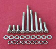 SB V8 FORD 289 alloy water pump stainless steel hex head bolts -1965 non a/c