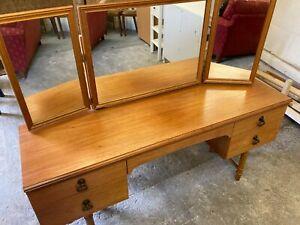 Fabulous Vintage Meredew Avalon Mid-century Teak Dressing Table Tri-fold Mirror