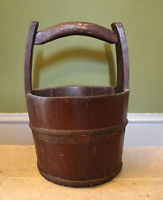 Antique Chinese Coopered Water Bucket circa 1900