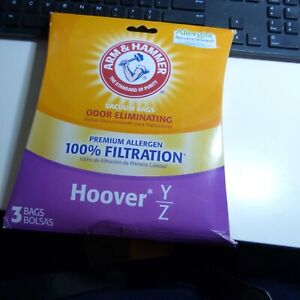 Package of 2 Arm & Hammer Hoover Type Y&Z Premium Allergen Vacuum Bags NEW