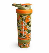 SmartShake 750ml Revive Protéine Shaker Infuseur Gym Bouteille Camo Orange Tasse