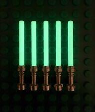 5 New Lego Lightsabers - Glow in the Dark - Metallic Hilts Star Wars Jedi Acc