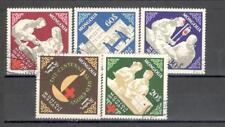 R9914 - MONGOLIA 1963 - SERIE COMPLETA CROCE ROSSA N°286/90 - VEDI FOTO