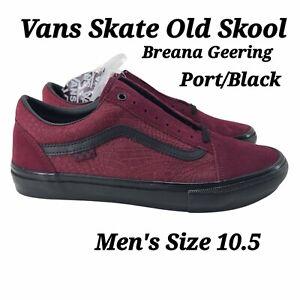 New Vans X Breana Geering Skate Old Skool Port/Black Sneakers 2021 Mens SZ 10.5