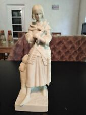 statuette en biscuit de jeanne d'arc