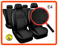 Car seat covers fit Seat Toledo - full set black leatherette/polyester