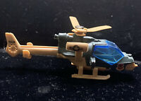 Vintage 1985 Matchbox Mission Helicopter Green Tan Macau Air 1 MB 153 1:80 Nice!