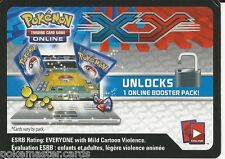 2x Pokemon XY TCGO Codes: TWO XY Set Booster Packs Unused Codes!