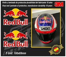 stickers-pegatinas-aufkleber-autocollants-adesivi, WHITE RED BULL set Helmet