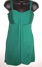 Le Chateau Size XS Womens Sleeveless Pleated Knee Length Green Dress