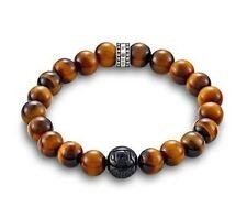 Thomas Sabo Jewellery TA1408L Obsidian Tiger's Eye Bracelet Size L 19cm RRP $139