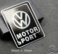 VOLKSWAGEN MOTORSPORT BADGE EMBLEM - fits bksil VW GOLF GTI VR6 R32 MK 2 3 4 TDI