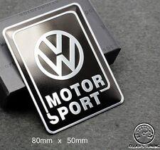 VOLKSWAGEN motorsport badge emblème-fits bksil VW Golf GTI VR6 R32 mk 2 3 4 TDI