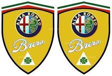 2 stickers adhésifs ALFA ROMEO BRERA  (idéal pour aile avant)