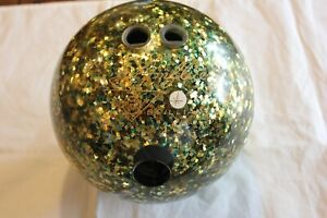 VERY RARE - AMFLITE BRILLIANT GOLD FLAKE BOWLING BALL - 15 LBS