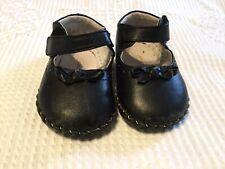 Pediped Infant Stella Baby Girls Mary Jane Flat Black 6-12M