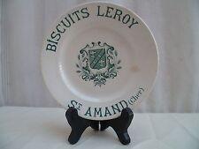 Ancienne assiette céramique publicitaire biscuits Leroy Saint Amand