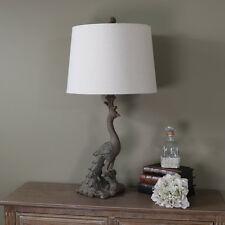 Haut or ancien paon lampe de table chic rétro rustique éclairage salle à manger